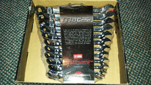 MAC TOOLS - Flexible Box End Combination Ratcheting Wrench Set