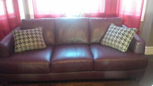 brand new genuine cowhide leather couch Natuzzi Edition