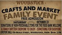 SHOWCASE YOUR TALENTS; OCT. 22; FAMILY DAY EVENT WOODSTOCK