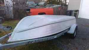 Aluminium boat with trailer please text rob 902-452-6349