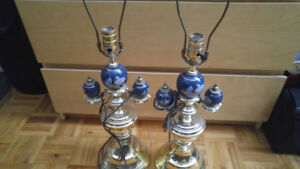 Brass lamps set of 2 in great shape like new !! used a few times
