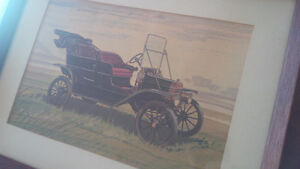 Vintage Framed Print - Old Car Kitchener / Waterloo Kitchener Area image 2