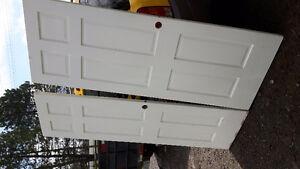 2 solid wood doors
