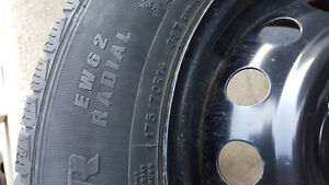 NEW PRICE - 4 Winter Tires WITH Rims Cambridge Kitchener Area image 3