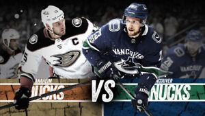 ++YES HERE! (3) TICKETS IN A ROW! = CANUCKS vs. ANAHEIM DUCKS++
