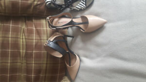 Selling some shoes.