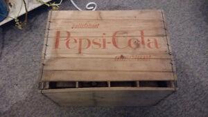 Caisse en bois Pepsi-Cola / Boite Pepsi