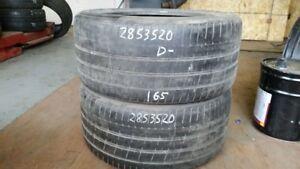 Pair of 2 Pirelli PZero 285/35R20 tires (40% tread life)
