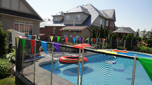 Baby barrier pool fence