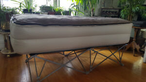 Stowaway Single Guest Bed/Camping Mattress with Memory Foam