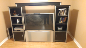55 in tv and wall unit