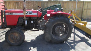 Massey Ferguson 210 tractor and blade
