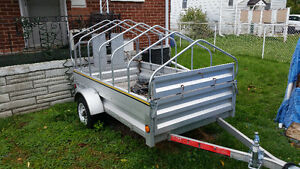 utility trailer with custom roof & encloser. Stratford Kitchener Area image 1