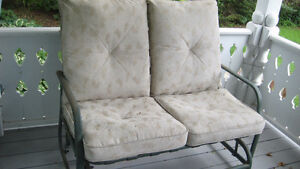 patio glider furniture chair for two