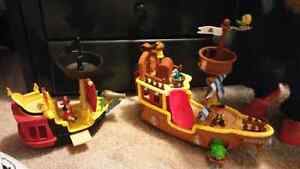 Jake and the Never land Pirates ships/Mike the knight