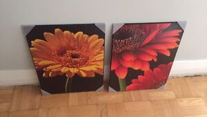 Brand new - 2 hanging flower pictures