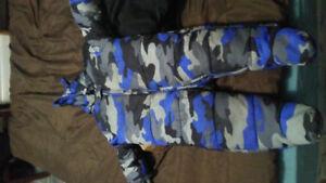 9-12 mth 1pc blue camo snowsuit