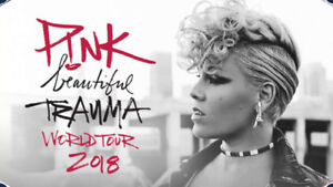 2- AMAZING Tickets to P!NK Concert March 23 Montreal