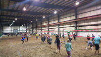 Co-ed Beach Volleyball League played Indoors (4's and 6's level)