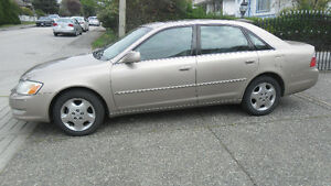 Relaible Toyota Avalon driven by a female driver for ten years