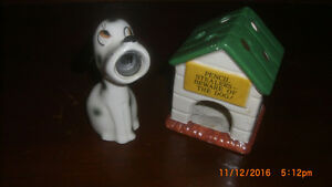 1960's Vintage Snoopy Pencil Sharpener & Doghouse Pencil Holder