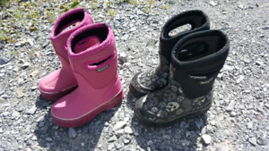 Childrens Bogs. Both size 8. Price per pair
