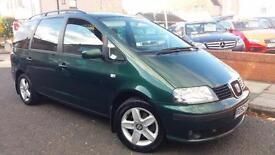 2002 52 SEAT ALHAMBRA 1.9 TDi PD SE RARE AUTOMATIC DIESEL 7 SEATER WITHA FULL SH