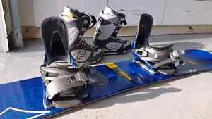 Complete Snowboard with Bindings and Boots