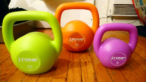 New unused Gym Dumbles and KettleBells weights