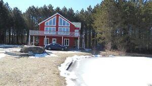 terrain 32 acres+maison