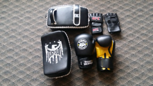 Boxing Gloves,  Thai pads, UFC gloves