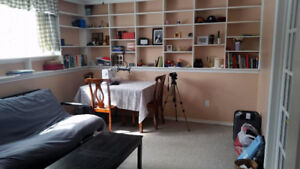 Furnished One Bedroom and living room