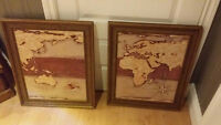 picture frame map, frame printed Cornwall Ontario Preview