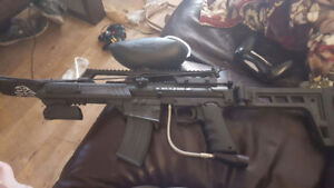 paintball gun and mask original paid over 750 for it