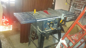 Mastercraft table saw with Diablo blade