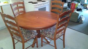 Table ronde bois cuisine
