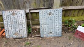 2 Manhole covers
