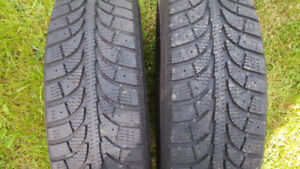 For sale 2 p175 70 r14 snow tires. Used for 3 months. Do
