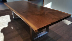 Live Edge Black Walnut Hardwood Slab Harvest Tables