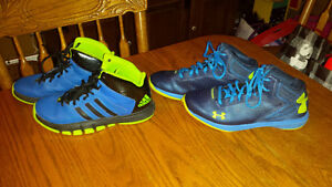 Under Armour & Adidas basketball shoes