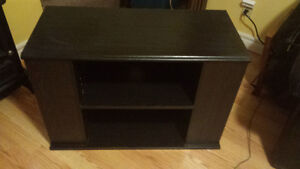 Solid black TV Stand