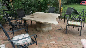 Large Stone Outdoor Table
