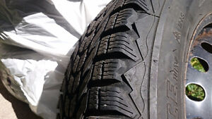 Firestone Winter Tires and Rims set, low KMs on tires! London Ontario image 3