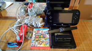 Nintendo Wii U Console + 1 game, cords and accessories