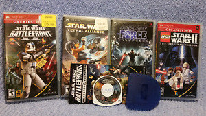 5 STAR WARS PSP Games,Lego,Battlefront II/Renegade,Force,Lethal