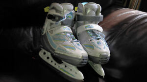 Patins a glace fille ajustable