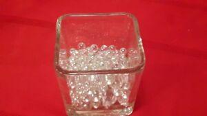 "Wedding - Eleven 4""x4""x4"" Glass Vases w/ Decorative Glass Balls"