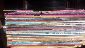 Stack of Elvis Presley Vinyl Records