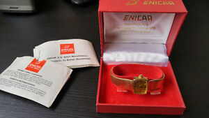 Swiss Enicar ladies gold watch