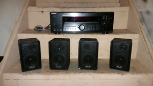 Sony reciever and 4 KLH speakers.